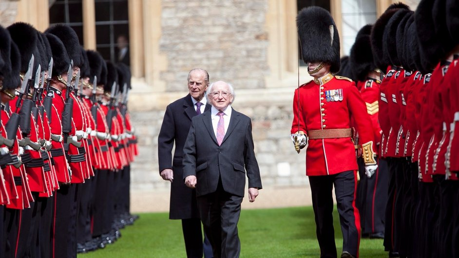 President Higgins inspecting the Guard of Honour