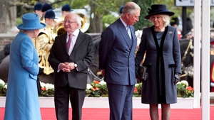 The President chats with Queen Elizabeth