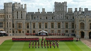 Assembled troops at Windsor Castle (Pic: EPA)