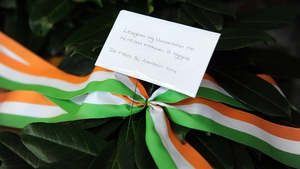 The wreath laid by President Higgins on the Grave of the Unknown Warrior