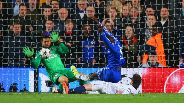 Demba Ba smashes home Chelsea's second goal