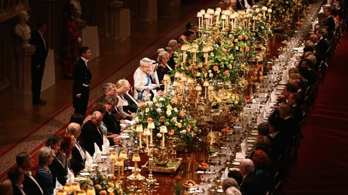 Queen Elizabeth gave her only speech of the visit at tonight's banquet