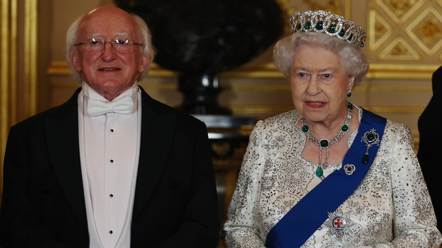 President Higgins was a guest of Queen Elizabeth II at Windsor Castle during the visit