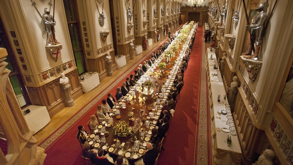 160 guests attended the banquet and sat at one long table