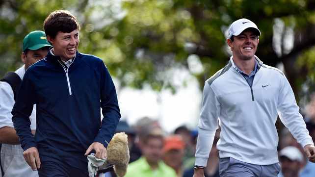 Matthew Fitzpatrick with Rory McIlroy