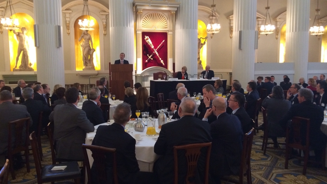 Enda Kenny addressed a business breakfast in London this morning
