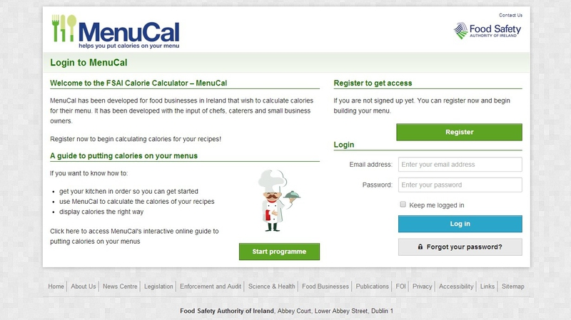 Online Calorie Calculator For Chefs Launched