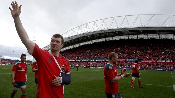 Peter O'Mahony will not play again this season