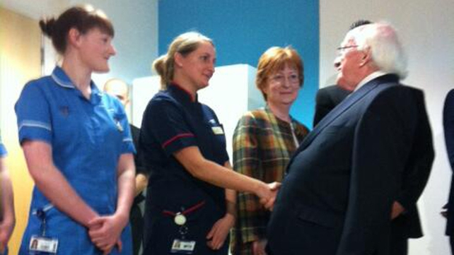 President Higgins at University College Hospital