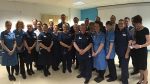 Staff at University College London Hospital met the President this morning