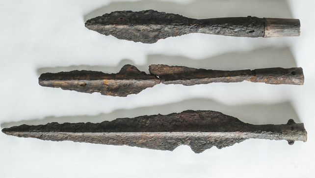 Possible Iron Age spearheads