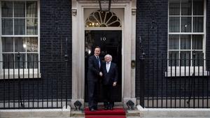President Higgins and David Cameron meet at 10 Downing Street