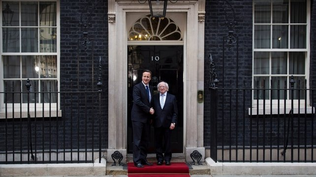 President Michael D Higgins meets David Cameron for lunch at 10 Downing Street