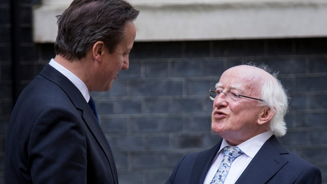 President Higgins met David Cameron at Downing Street