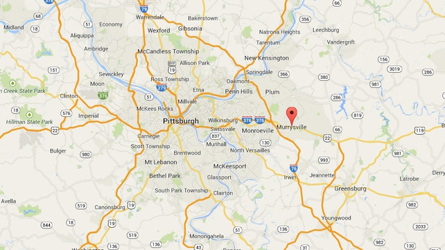 The incident happened in Murrysville, east of Pittsburgh (Pic: Google Maps)