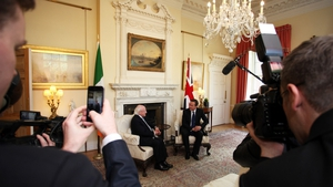 Photo Op: The Prime Minister and the President chatting in Downing Street