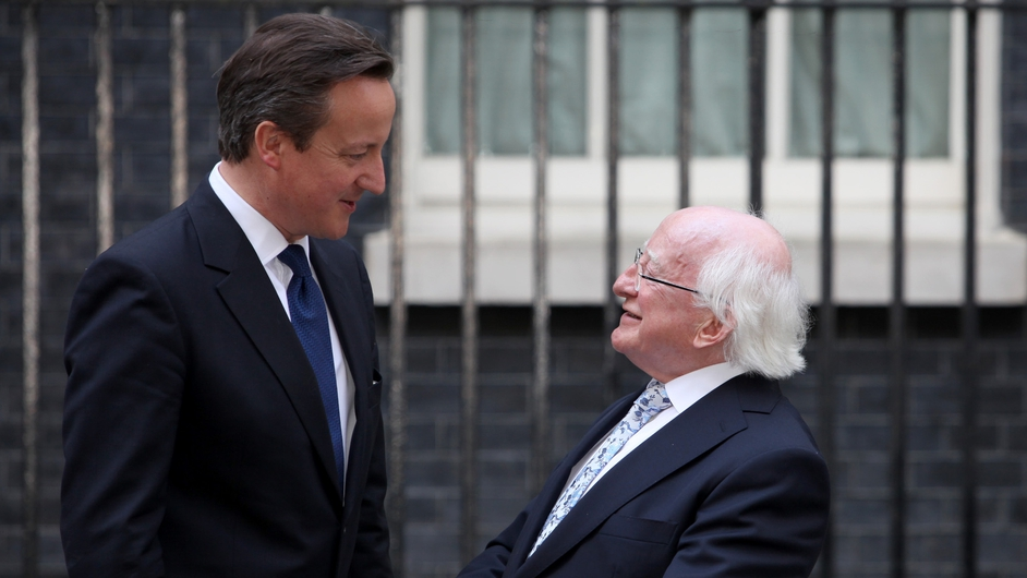 President Higgins said he was so pleased by the incredible reception he has received