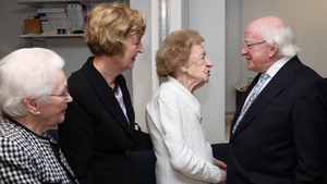 Guests line up to meet with the President at UCLH