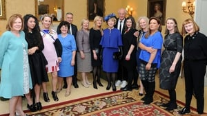 The President's wife attended a lunch at the Embassy focusing on the theme of Irish fashion and design