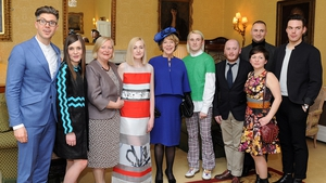 Sabina Higgins attended a fashion forward event at the Irish Embassy