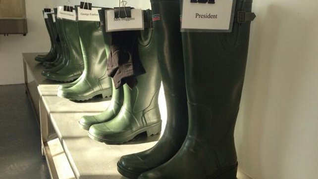 Wellingtons are ready for Mr and Mrs Higgins
