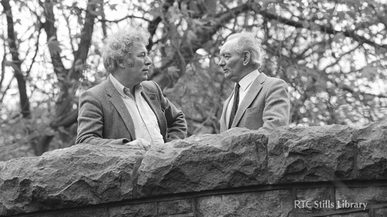 Seamus Heaney and Brian Friel, 1982 © RTÉ Archives 2058/085