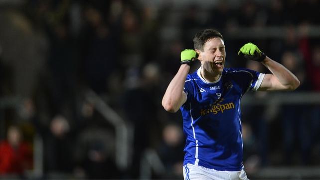 Cavan's Michael Argue celebrates at the final whistle