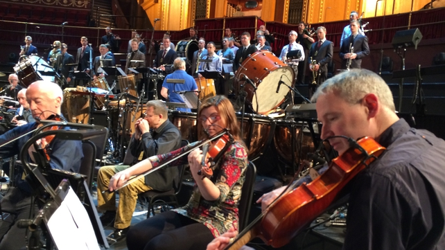 Rehearsals for tonight's 'Ceiliúradh' at the Royal Albert Hall