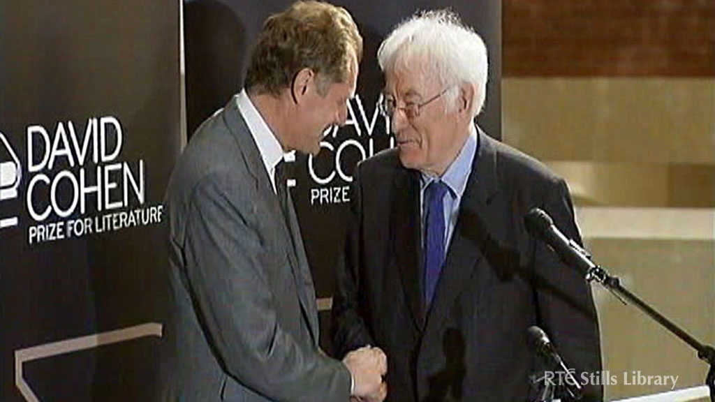 Andrew Motion and Seamus Heaney © RTÉ Archives 3031/015
