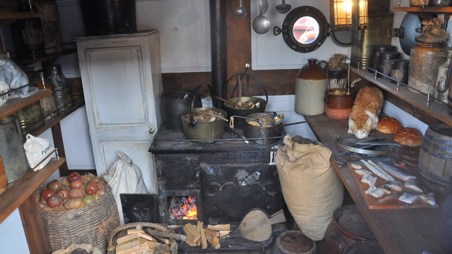 The kitchen on the Dunbrody Famine Ship