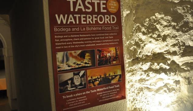 A poster of the La Boheme/Bodéga tasting menu