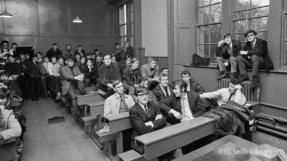 UCD students, c.1969 © RTÉ Archives 2615/019