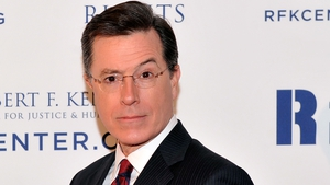 "Colbert - ""My great-great grandfather sailed from Limerick with but two goals: 1) get a job digging the Erie Canal, and 2) party in L.A. I am proud to fulfil his dream"""