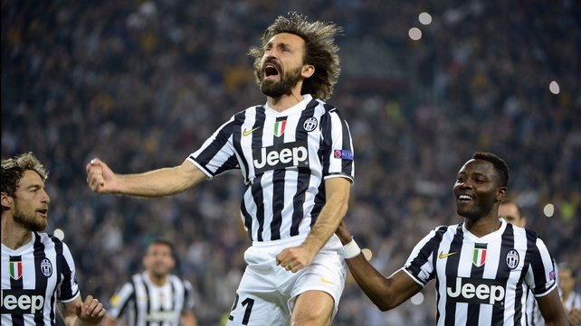Andrea Pirlo scored another one of his trademark free kicks
