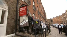 Protest at Knight Frank offices in Dublin