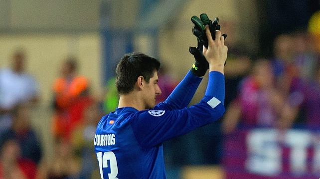 Atletico Madrid goalkeeper Thibaut Courtois may yet be able to play against Chelsea