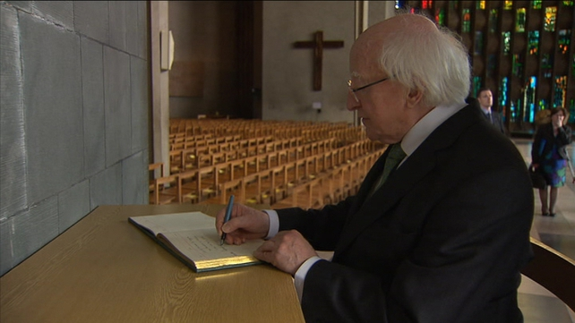 President Higgins visited Coventry Cathedral this afternoon