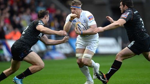 Jamie Heaslip tries to make some ground