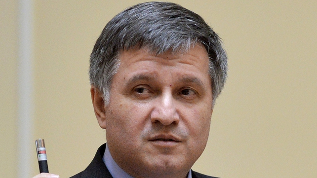 Arsen Avakov said the 'response will be very tough' after a police station in Slaviansk was seized