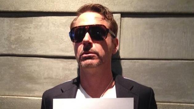 Robert Downey Jr's first Twitter pic