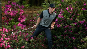 Rory McIlroy finds times to ignore the azaleas at the US Masters