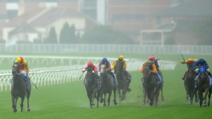 Craig Newitt riding Lankan Rupee (L) wining the Darley TJ Smith Stakes, a race in which Tom Hogan's Gordon Lord Byron finished sixth