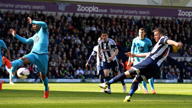 Chris Brunt puts West Brom 2-0 up after only four minutes