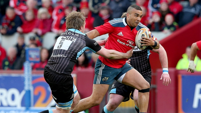 Munster left wing Simon Zebo will be crucial to the Irish province's attacking gameplan against Toulon