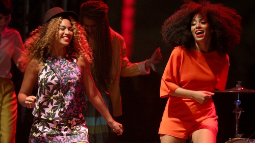 Beyoncé made a surprise appearance on stage with sister Solange