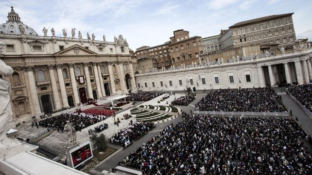 More than 100,000 people packed into St Peter's Square (Pic: EPA)