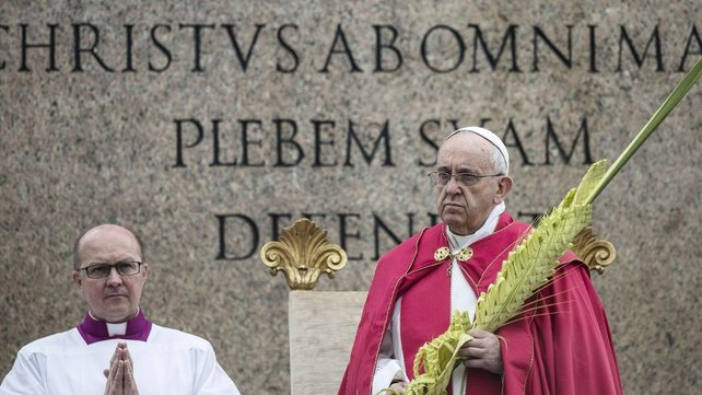 Pope Francis was solemn as he delivered his impromptu homily