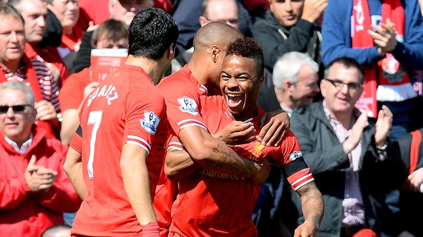 Raheem Sterling opened the scoring for Liverpool