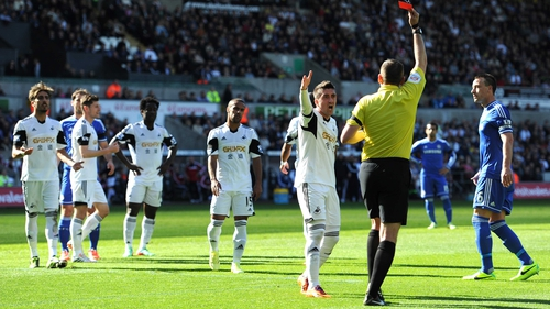 Chico Flores is given his marching orders