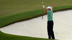 Jordan Spieth took an early lead and chipped in from the sand for a sensational birdie